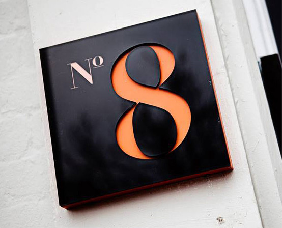 No8 Door Sign