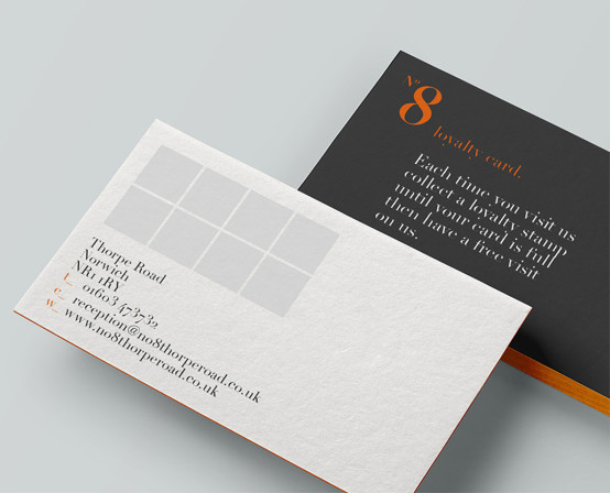 No8 Loyalty Card Design
