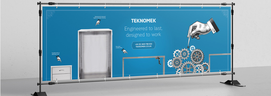 Teknomek Catalogue Display Graphic