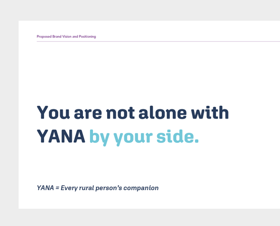 YANA You Are Not Alone